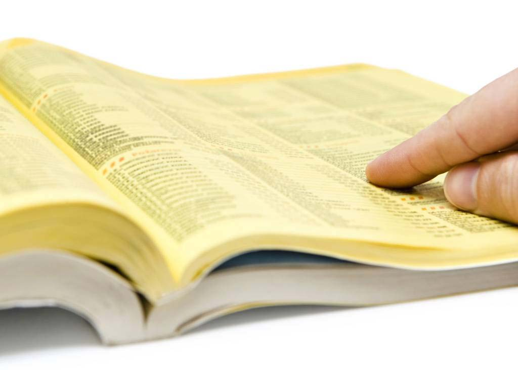 yellow directory magazine full of local advertisers