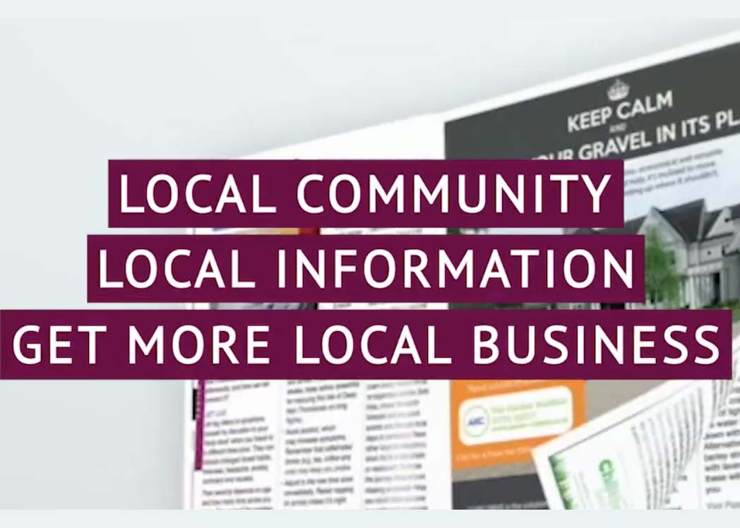 how the local directory has grown from 3,000 copies to over 110,00 copies monthly